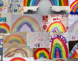 Clap for carers NHS rainbow competition